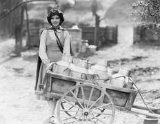 Delivering milk - stock photo