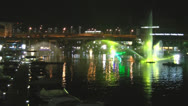 Stock Video Footage of Vivid Sydney 2013 Aquatic Show in Darling Harbour