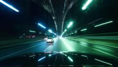 Time Lapse From Car Night Driving Harbour Bridge 180GYNDR_NTSC - stock footage