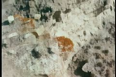 high angle view over rocky cliff - stock footage