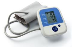 blood pressure gauge - stock photo