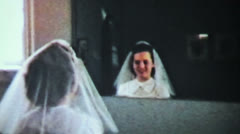 Teenage Girl Prepares For Christian Confirmation-1958 Vintage 8mm film - stock footage