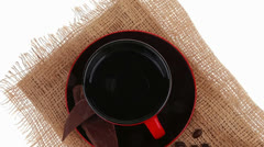 Black coffee and chocolate Stock Footage