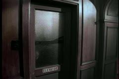 Wide shot of elevator door closing Stock Footage