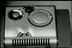 Close-up of  wire recorder Stock Footage
