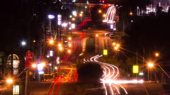 Time Lapse of traffic at Night NTSC 130GYND Stock Footage