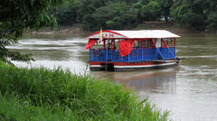 Ferry boat 2 Colombia river Stock Footage