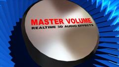 Button of  Master Volume Stock Footage