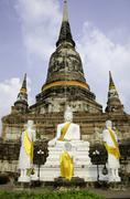 Wat yai chai mongkhon temple of ayuthaya, thailand Stock Photos