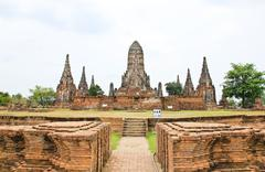 wat chaiwatthanaram temple. ayutthaya historical park, thailand. - stock photo