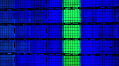 Colorfull cubes wall - stock footage