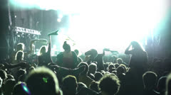 Concert Crowd, slow motion - stock footage
