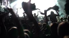 Concert Crowd, slow motion Stock Footage