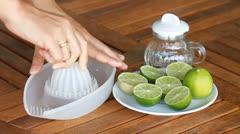 Fresh press lime juice Stock Footage
