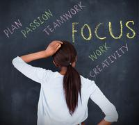 Woman having a brainstorm - stock photo