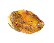 Amber from coast of the Baltic sea isolated Stock Photos