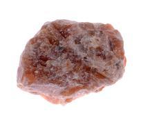 Orange Calcite crystals Isolated on white background Stock Photos
