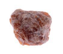 Orange Calcite crystals Isolated on white background - stock photo