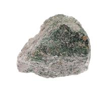 Fuchsite mineral isolated on a white background - stock photo