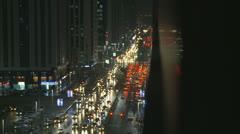 Night traffic 4 Abu Dhabi Stock Footage