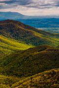 spring colors in the appalachians, seen from blackrock summit in shenandoah n - stock photo