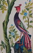 peacock painting - stock illustration