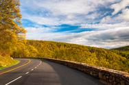 Stock Photo of spring evening on skyline drive in shenandoah national park, virginia.