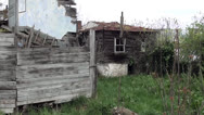 Stock Video Footage of Derelict wooden houses