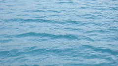 Clear blue sea waters Stock Footage