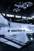 the united states space shuttle discovery, at the smithsonian air and space m - stock photo