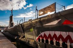 USS Torsk sukellusveneen sisäsatama Baltimoressa, Marylandissa. Kuvituskuvat