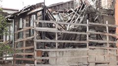 Ramshackle wooden house Stock Footage