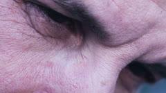 Desperate man, depressed man, sad man, melancholy man - Eyes closeup Stock Footage