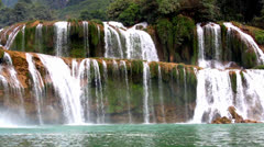 Waterfall Kbal Spean Stock Footage
