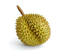 Durian, the king of fruits in south east asia on background. Stock Photos