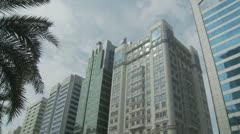 Abu Dhabi skyscrapers Stock Footage