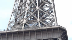 Tour of the Eiffel Tower Stock Footage