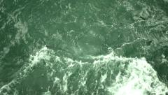 Sea waves of green color Stock Footage