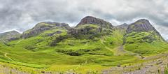 Three Sisters of Glencoe, Scotland - stock photo