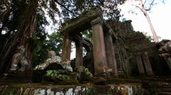 Stock Video Footage of Angkor ruins, Cambodia, Siem Reap, Ta Prohm