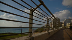 Netanya boardwalk clouds TL HD Stock Footage