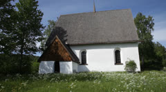 Vibyggera old church Stock Footage