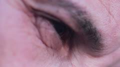 Desperate man, depressed man, sad man, melancholy man - Eye closeup Stock Footage