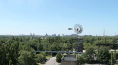 View from Landschaftspark Duisburg Nord Stock Footage