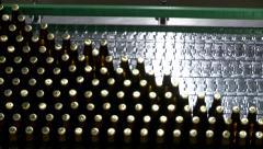 Time lapse pasteurisation line(Carlsberg) Stock Footage