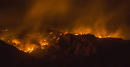 Stock Video Footage of 4K 30p tight - Arizona 2013 Wildfire at night - Prison fire time lapse
