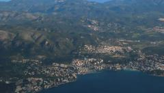 Aerial View - Palma, Mallorca, Spain. Flying over sea. Beach - 1 Stock Footage