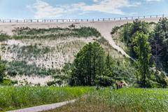Highest dune on the curonian spit Stock Photos