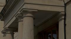 Town Hall doorway Stock Footage