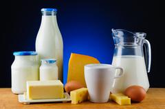 Stock Photo of dairy products